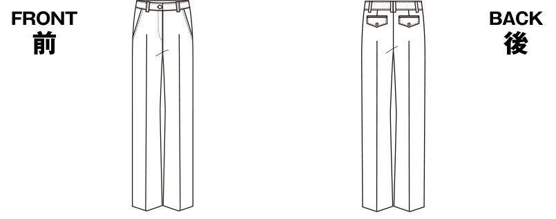 SELERY(セロリー) S-50371 [春夏用]パンツ [ストライプ/ストレッチ/高通気] ハンガーイラスト・線画