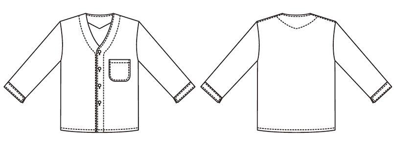319 Servo(サーヴォ) 調理衣/七分袖(男性用) ハンガーイラスト・線画