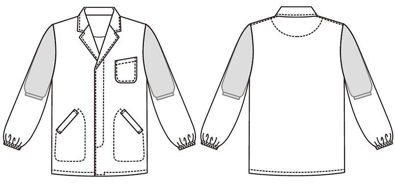 BFA-310 Servo(サーヴォ) 調理衣/長袖(男性用) ハンガーイラスト・線画