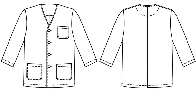 FA-323 Servo(サーヴォ) 調理衣/七分袖(男性用) ハンガーイラスト・線画