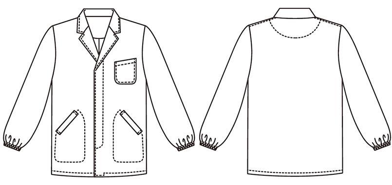 FA-797 Servo(サーヴォ) 長袖 調理衣(男性用) ハンガーイラスト・線画