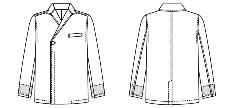 JT-1300 Servo(サーヴォ) ショップコート(男女兼用) ハンガーイラスト・線画