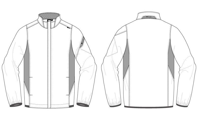 TS DESIGN 846616 スーパーライトストレッチ ロングスリーブジャケット(男女兼用) ハンガーイラスト・線画