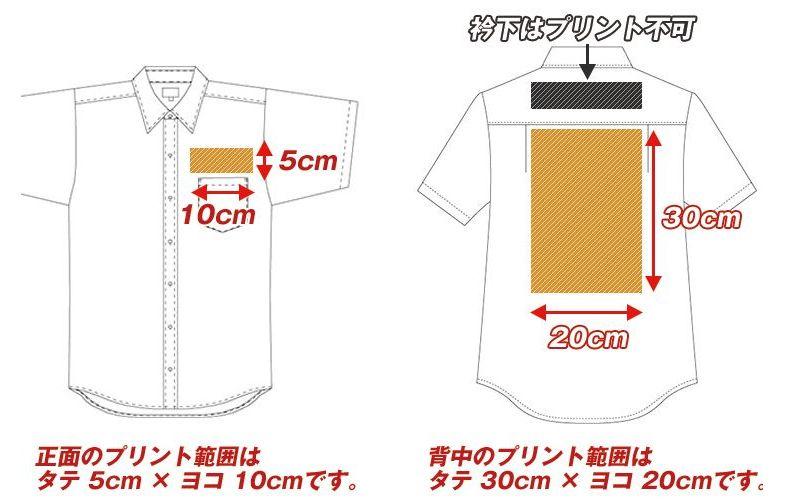 EP-7617 チトセ(アルベ) ボタンダウンシャツ/半袖(男女兼用) プリントエリア