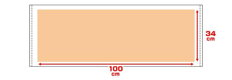 00526-ST スポーツタオル(550匁シャーリング) プリントエリア