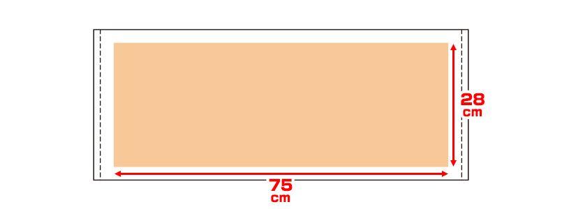 00536-FTL ライトフェイスタオル(260匁シャーリング) プリントエリア