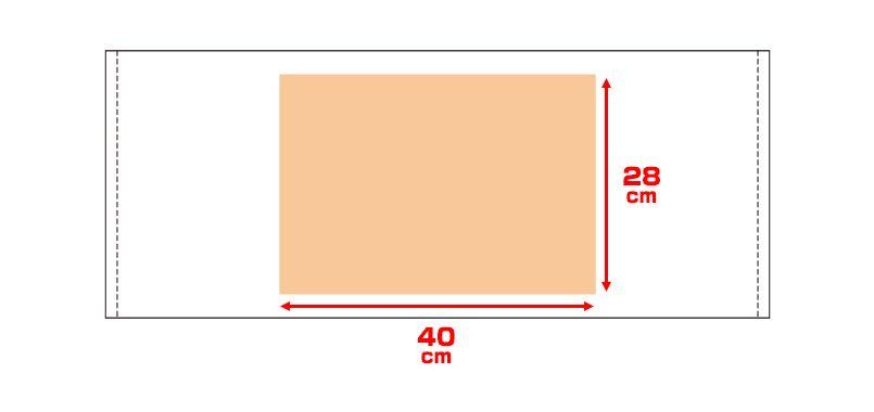 カラーフェイスタオル(240匁) プリントエリア
