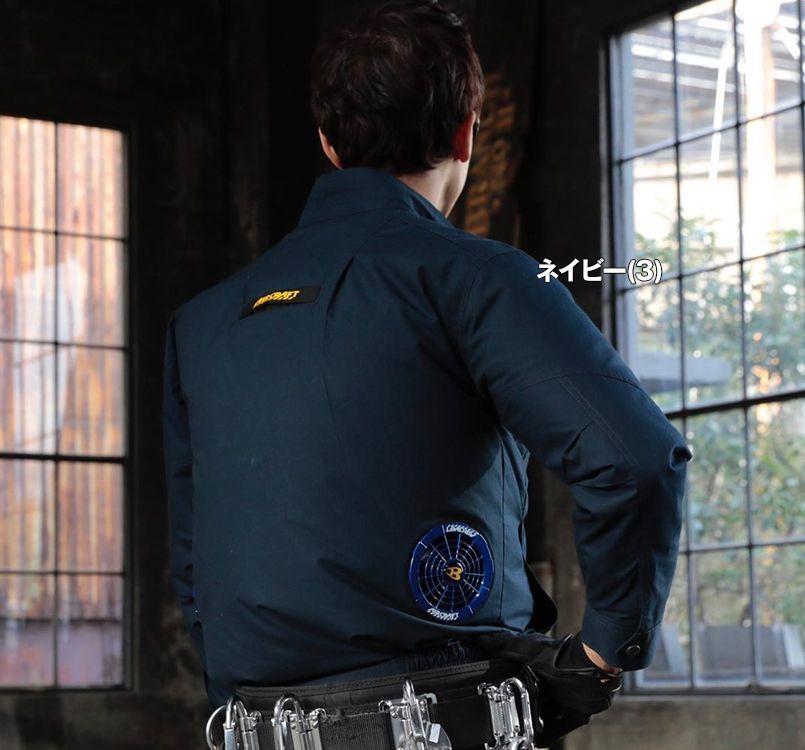 バートル 空調服 バートル AC1131 [春夏用]エアークラフト 長袖ブルゾン(男女兼用) 綿100% 11-AC1131 エアークラフトブルゾン(男女兼用) モデル着用雰囲気2