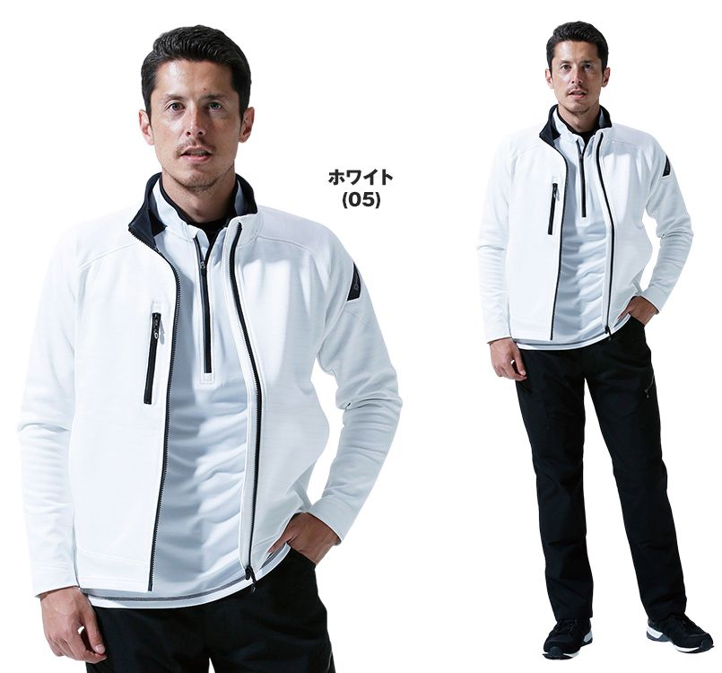 TS DESIGN(藤和) TS DESIGN 6226 ES制電ロングスリーブジャケット(男女兼用) 14-6226 ESロングスリーブジャケット モデル着用雰囲気2