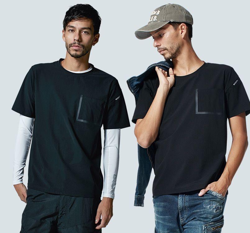 TS DESIGN(藤和) TS DESIGN 8355 [春夏用]TS DELTA ワークTシャツ 14-8355 TS DELTA ワークTシャツ モデル着用雰囲気2