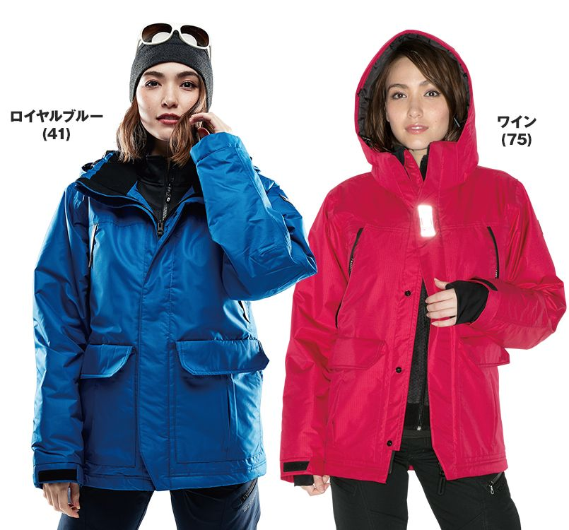 TS DESIGN(藤和) TS DESIGN 8127 防水防寒ライトウォームジャケット(男女兼用) 14-8127 防水防寒ライトウォームジャケット モデル着用雰囲気3