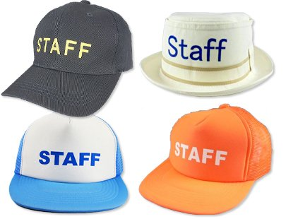 STAFF型帽子サンプル