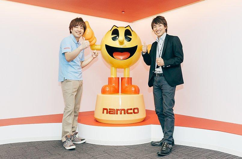 ナムコ様伝説のアーケードゲーム「パックマン」のキャラクターとともに