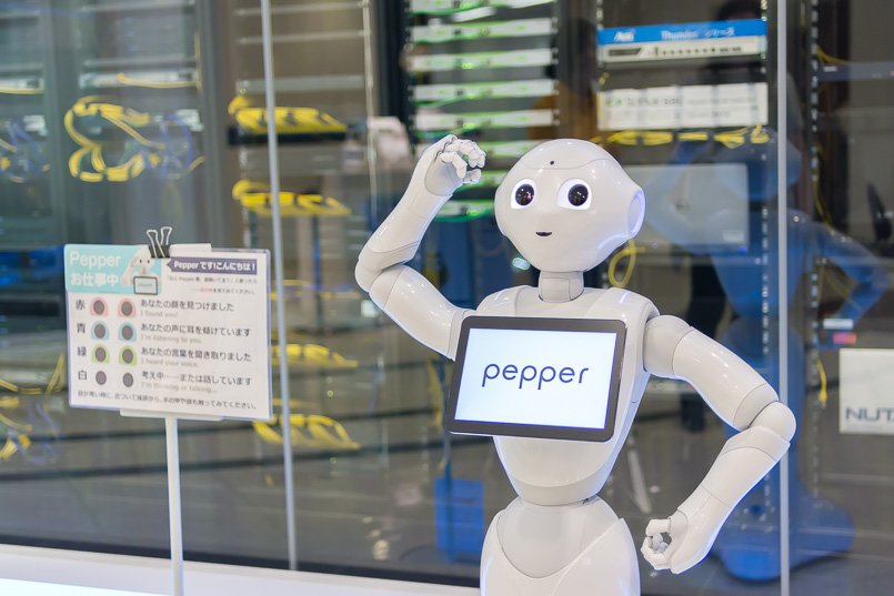 一緒に楽しく遊べる人形ロボット、ペッパー