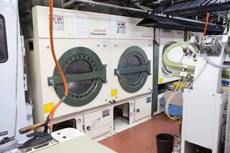 ドライクリーニングの乾燥機