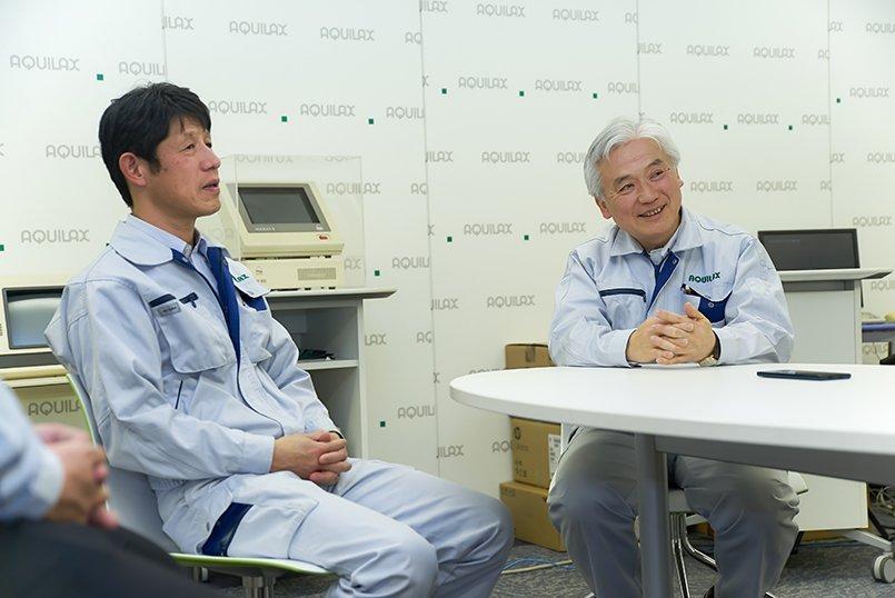 営業課長代理小森様、取締役営業部長池田様