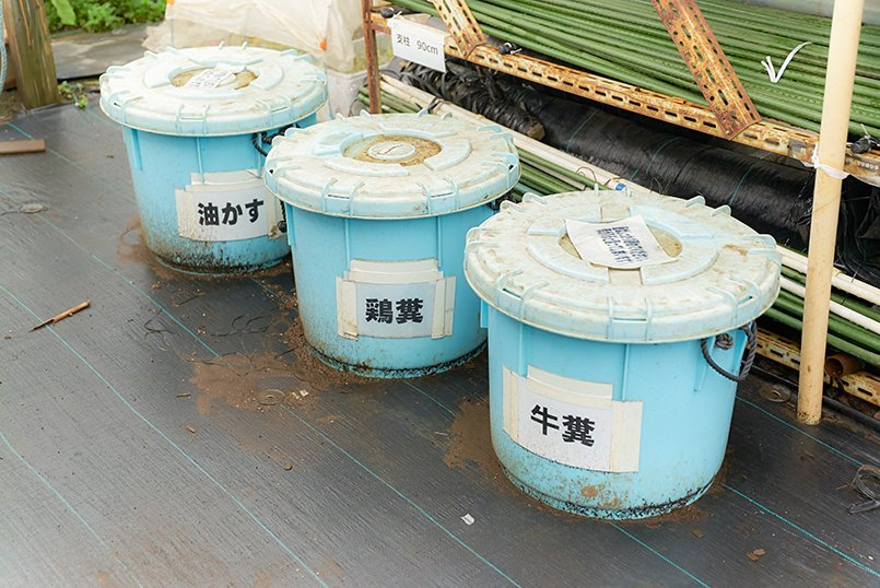 薬品の持ち込みは禁止。有機質肥料だけを使用
