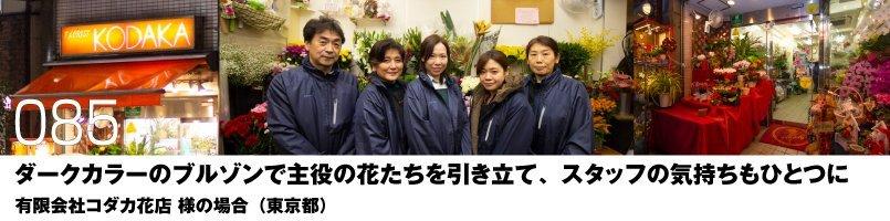【訪問取材】3100 桑和 カラーブルゾンをご購入頂いた有限会社コダカ花店